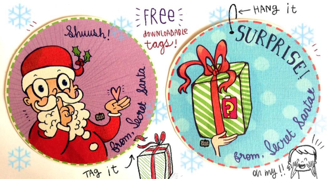 Alicia Souza Free Christmas Tags For Secret Santa S Stash
