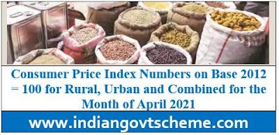 Consumer Price Index month of April