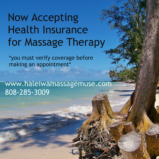 Insurance massage on beautiful sandy Hawaiian beach