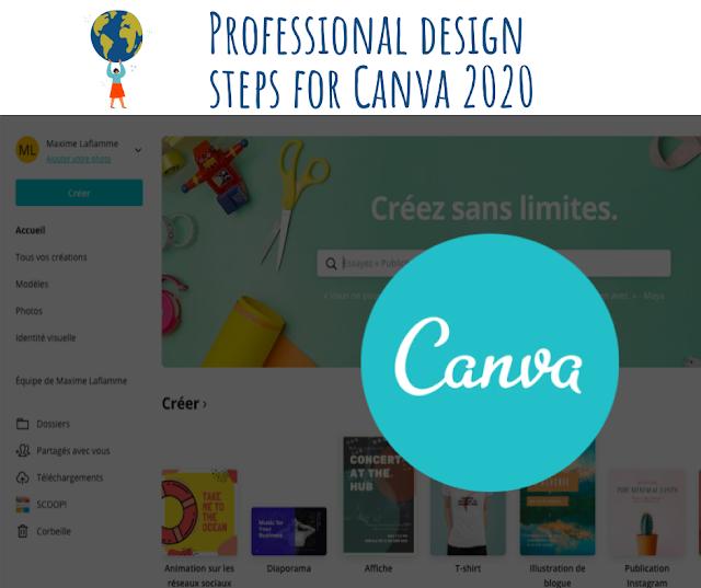 Étapes de conception professionnelles pour ce formidable logiciel Canva 2020