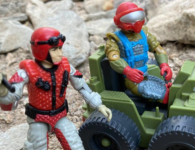 1987 Fast Draw, Sneak Peek, 1993 Headhunter Stormtrooper, 1986 Sears Dreadnok Ground Assault, Dreadnok Stinger, Crazylegs