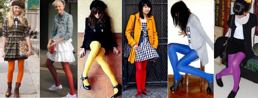 445517e85 Se você tem pernas grossas e quer usar uma meia diferente da lisa preta