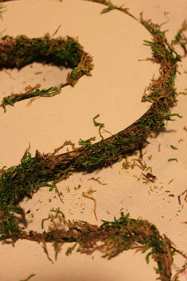 Moss Covered Letters With A Twist Happenstance Home