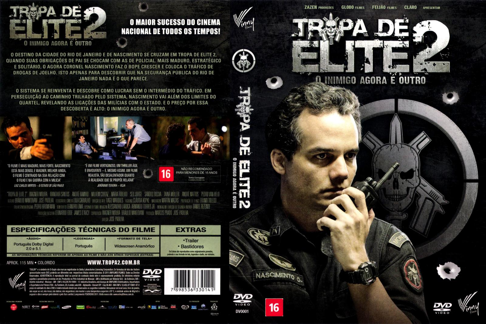 capa dvd tropa de elite 2