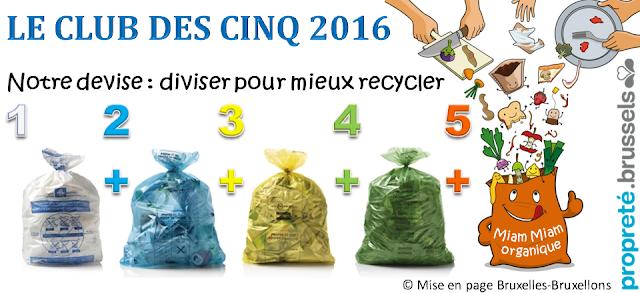 Bruxelles-Propreté - Projet de réforme de la collecte des déchets ménagers 2016 controversé (Secrétaire d'Etat Fadila Laanan) -  Tri sélectif complémentaire pour les déchets organiques via le sac orange - Bruxelles-Bruxellons