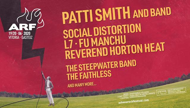 azkena, rock, festival, 2020, patti, smith, cartel, social, distortion, l7, fu, manchu