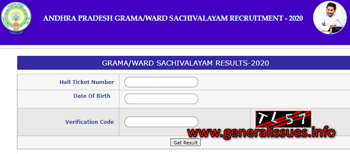 AP Grama Sachivalayam Result Merit List-Selected Candidates List