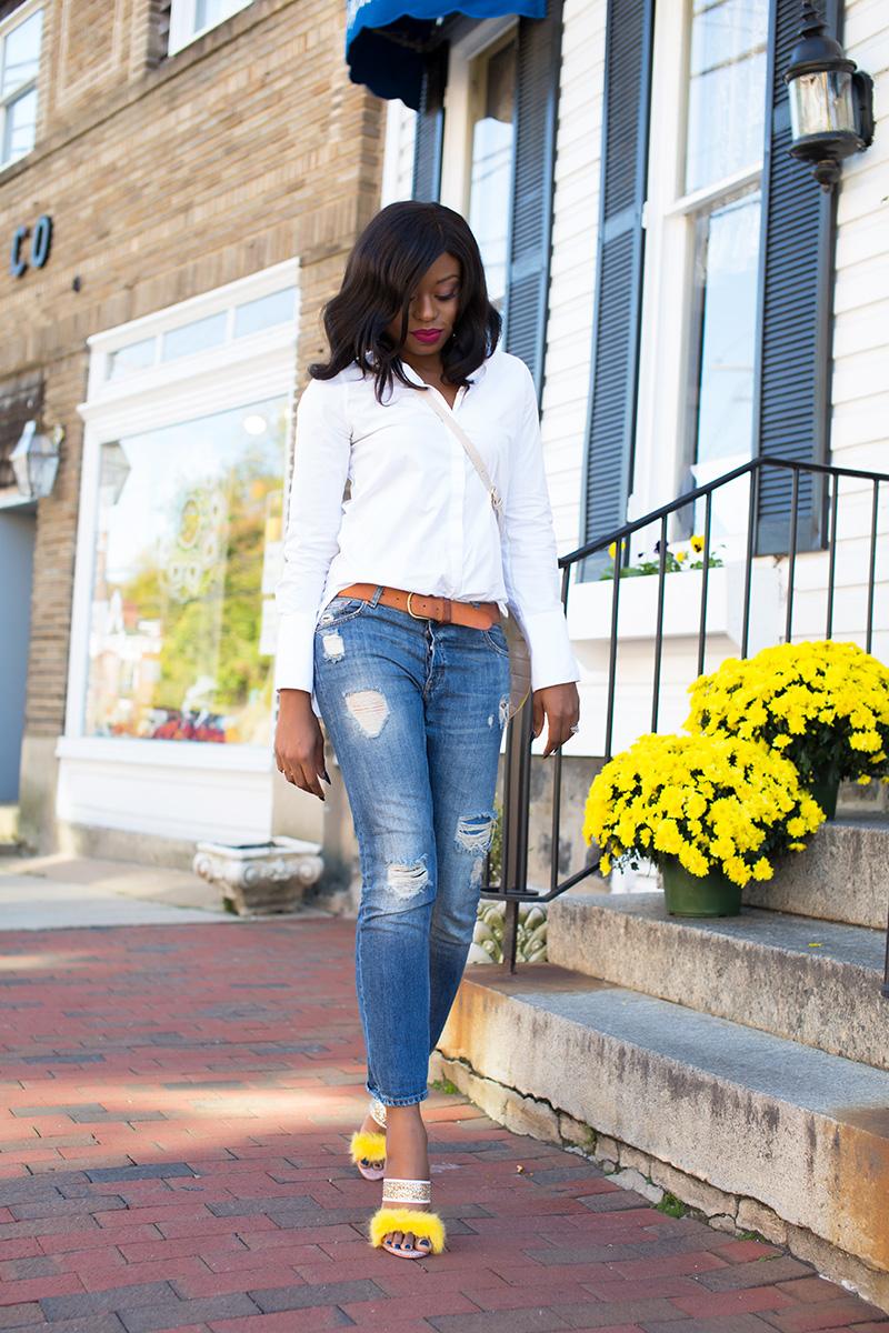 Boyfriend jeans, sophoa webster shoes, jadore-fashion.com