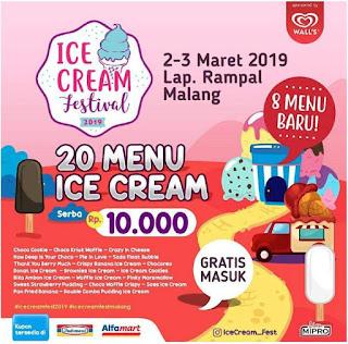 Festival Ice Cream serba 10.000 ( 2- 3 Maret 2019 ) di JakCloth Goes to Malang