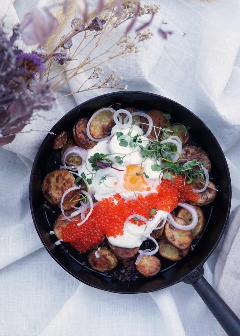 perunaruoka, rautapannu, pyttipannu