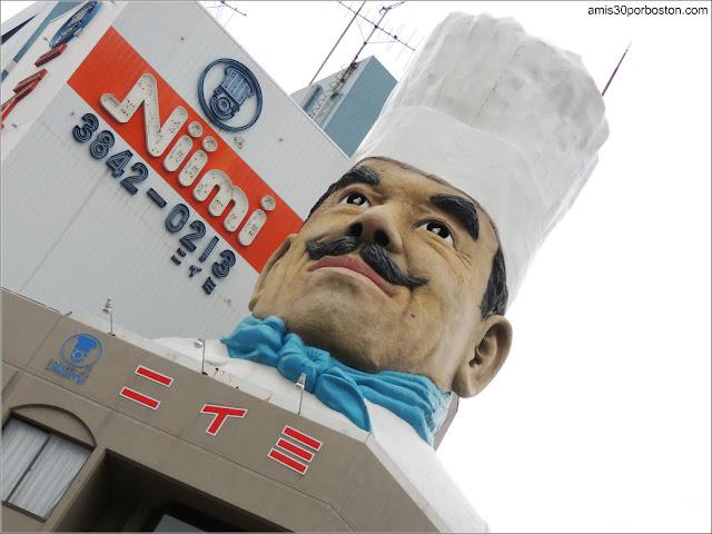 Chef en Kappabashi-Dori, Tokio