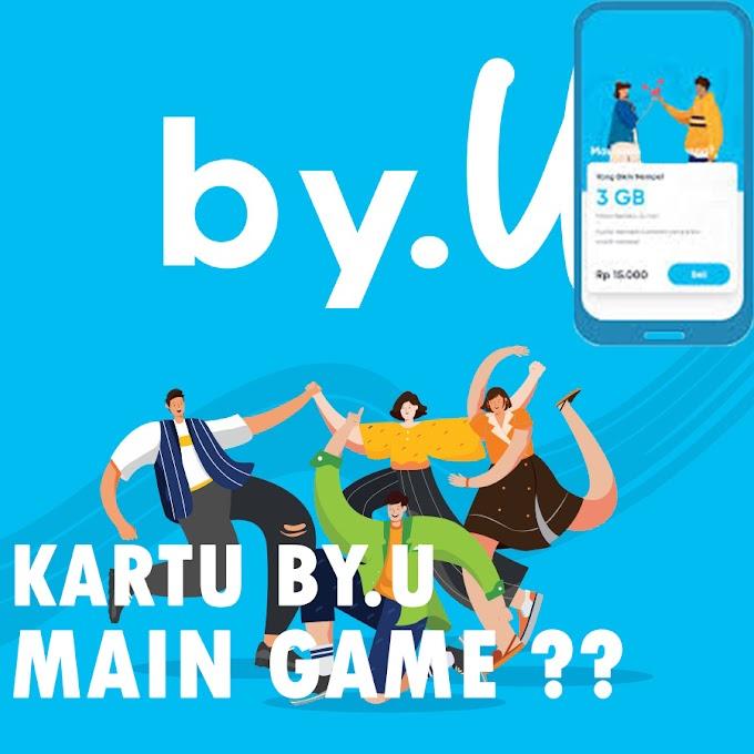 Mencoba Kartu By.U Untuk Main Game dan Internet???