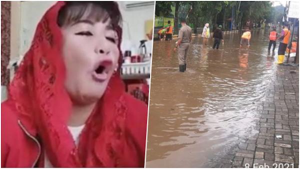 Giliran Jakarta Diguyur Hujan hingga Banjir 150 cm, Dewi Tanjung Muncul Omelin Anies