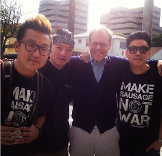 Alton Brown at Seoul Sausage