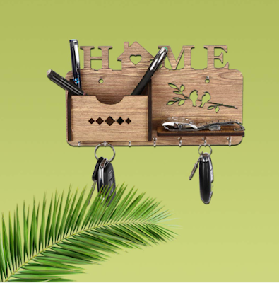 Sehaz Artworks Wooden Key Holder With Eye-catching Design and Useful to Organize Every Keys