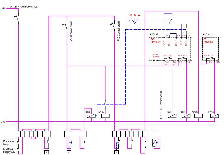 Schema Collegamento Filtro Lte : Macchine frigorifere