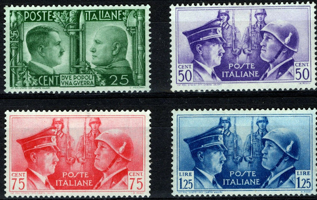Germany Italy Axis WW2 Hitler and Mussolini
