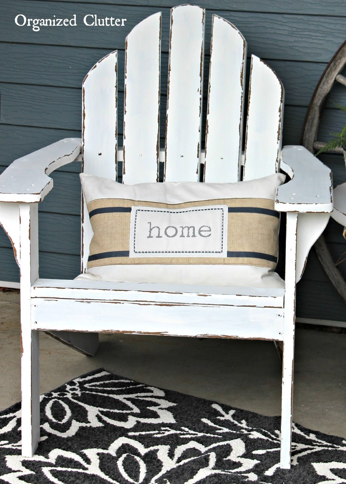 Distressed Adirondack Chairs O Gravity Chair Authentically Chippy With Fusion Mineral Wet Distressing Paint Www Organizedclutter Net