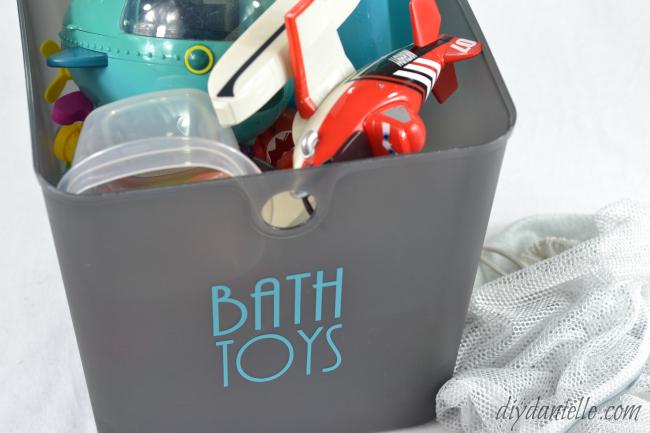 DIY Bath Toy Cleaning in Washing Machine