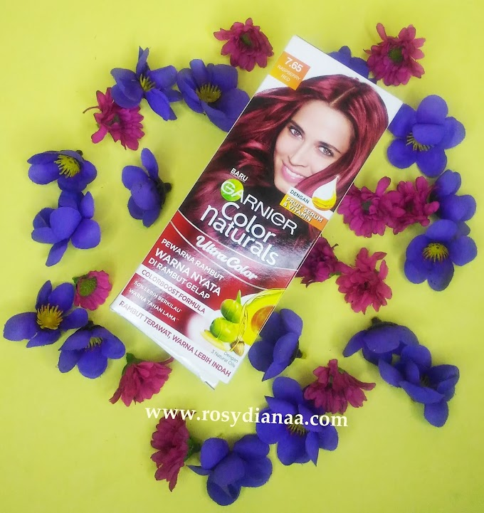 REVIEW: Garnier Color Naturals Ultra Color - 7.65 Raspberry Red | Warna nyata tanpa bleaching