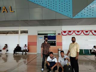 Satuan Reskrim Polres Pangkep, Jemput terduga Pelaku Penganiayaan di Bandara
