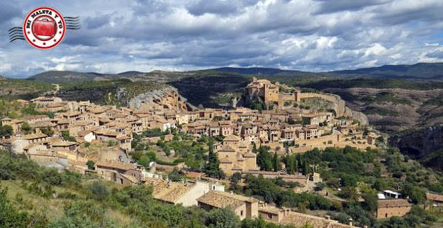 Alquezar en Huesca, España