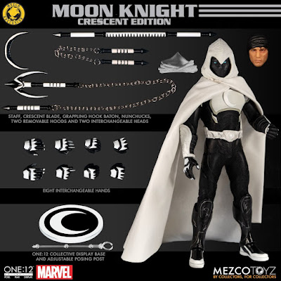 San Diego Comic-Con 2019 Exclusive Moon Knight Crescent Edition One:12 Collective Marvel Action Figure by Mezco Toyz