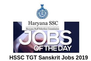 HSSC Recruitment TGT  Post Online Form 2019