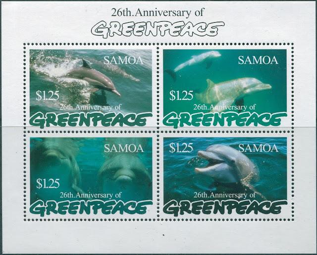 Samoa 1997 Greenpeace Dolphins
