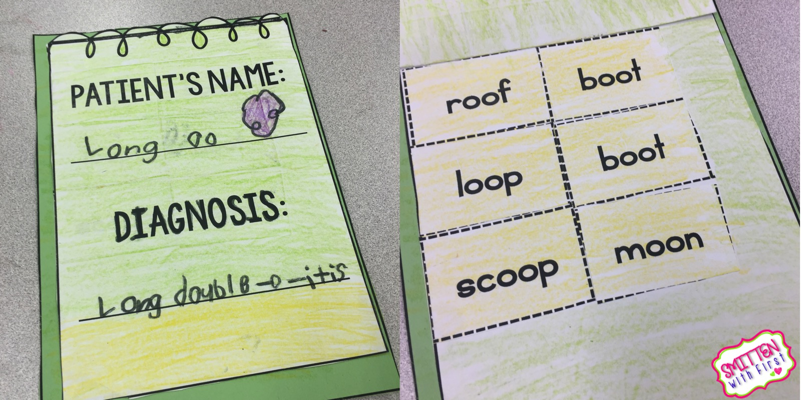 Vowel digraph oo - Smitten with First