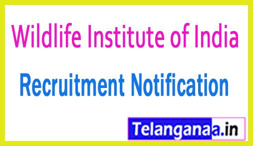 Wildlife Institute of India WII Recruitment Notification