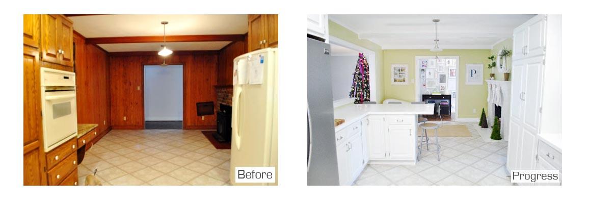 La ristrutturazione di una casa americana arredamento facile for Arredamento casa americana