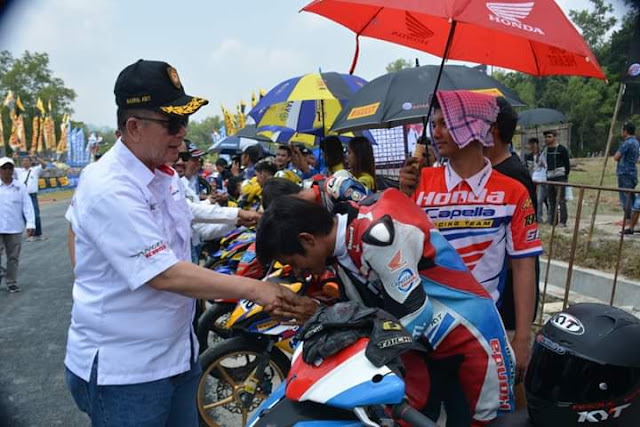 Wagub Sumbar Nasrul Abit Resmi Membuka,  Sirkuit Road Race Kandih Sawahlunto