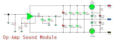 Op-Amp Sound Module wit IC741