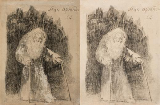 Dibujos de Goya restaurados en el Museo del Prado