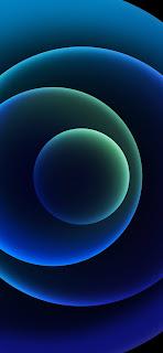 خلفية ايفون 12 رسمية زرقة البحر