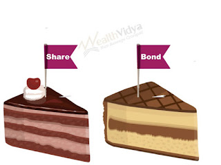 Two pieces of cakes depicting share and bond