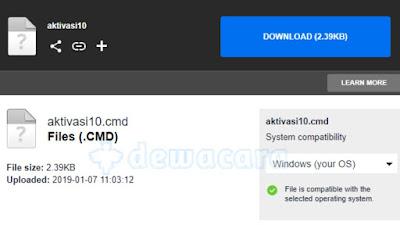 Download kode aktivasi