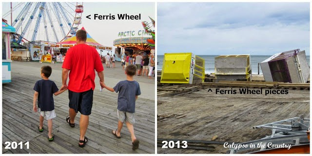 Seaside Heights - Before and After Hurricane Sandy