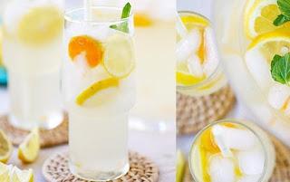 Membuat Es Limun Air Kelapa Untuk Minuman Buka Puasa