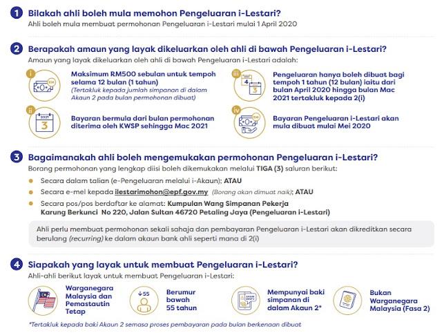 Syarat Untuk Memohon i-Lestari, Cara Memohon Pengeluaran i-Lestari KWSP, ilestari, i-lestari, i-Lestari, i-Lestari KWSP, kaedah pengeluaran i-Lestari, kelayakkan memohon i-lestari kwsp,