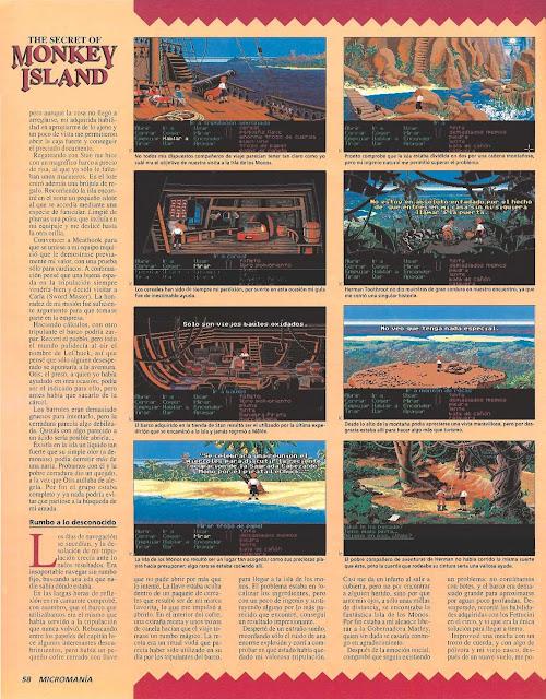 Micromanía - Guía videojuego The Secret Monkey Island