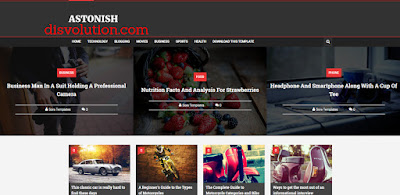 Template Terbaru 2017 Astonish Magazine Grid Seo Responsive Download Gratis