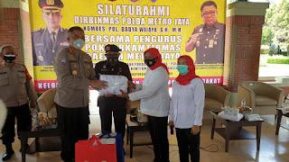 Ketua Pokdar Kamtibmas Metrojaya Terima Silahturahmi dari Polda Metrojaya