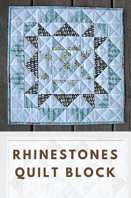 Rhinestones quilt block by Hello Melly Designs