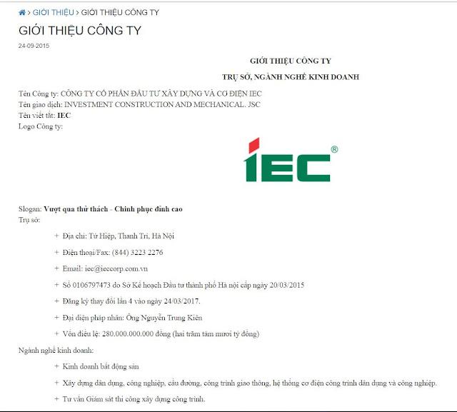Chủ đầu tư IEC là ai?