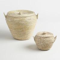 World Market Natural Seagrass Paige Baskets