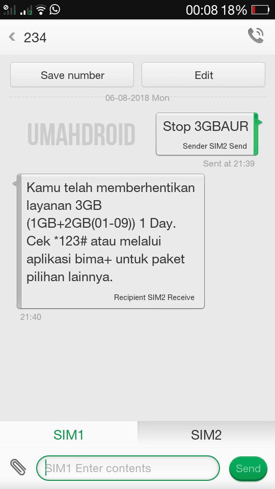 Cara Stop Berlangganan Paket Harian 3 Tri 3gb Rp3000 Terbaru Umahdroid