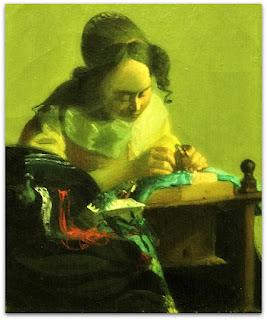 Iberê Camargo - A Rendeira (1949) - cópia de Johannes Vermeer - carvão sobre papel