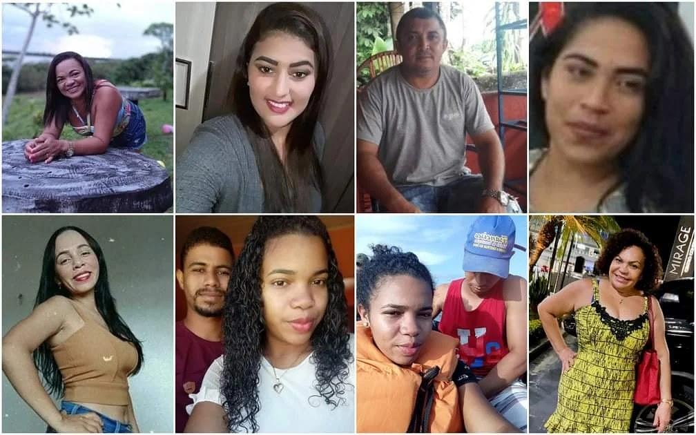 Brasileiros desaparecidos após naufrágio no Oceano Atlântico, na costa da Guiana Francesa, no dia 28 de agosto — Foto: Arquivo Pessoal